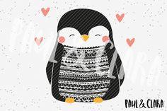 Weiteres - Plottervorlage Boho Pinguin - ein Designerstück von paulundclara bei DaWanda