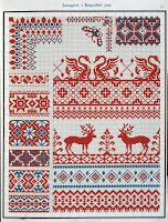 Free Easy Cross, Pattern Maker, PCStitch Charts + Free Historic Old Pattern Books: PCStitch= Ughly Sweater Cross Stitch Borders, Cross Stitch Flowers, Cross Stitch Charts, Cross Stitching, Cross Stitch Patterns, Embroidery Sampler, Diy Embroidery, Cross Stitch Embroidery, Embroidery Patterns