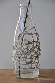 bottle: crochet pattern (also coat hanger) Free-style crochet