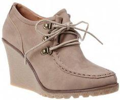 Botine platforma Kya khaki Oxford Shoes, Wedges, Sneakers, Women, Fashion, Tennis, Moda, Slippers, Fashion Styles