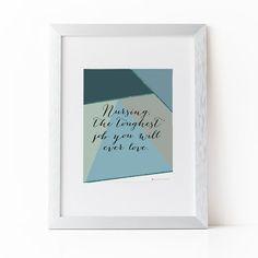 Gift For Nurse | Nurse Gift |Nurse Print  Nurse Graduation Gift |Nursing Student | Instant Download | Nursing the Toughest Job Printable Art by alwaysyesterday on Etsy