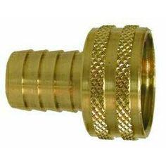 30468 | Midland | 3/4 X 3/4 HB X FGH SWIVEL ADAPT | Brass Fittings | Garden Hose | Garden Hose Coupling Short Shank Knurled Nut