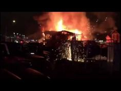 Video of Massive Inferrno of Fire in Las Vegas Cause Unknown