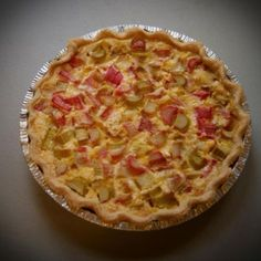 This is one of my all time favorite pies! Made with fresh Rhubarb combined with a custard filling and flaky crust! A true taste treat!