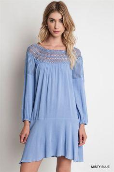 Modmint boutique WRINKLE IN TIME SWING DRESS $35 (http://shopmodmint.com/product/wrinkle-in-time-swing-dress/)