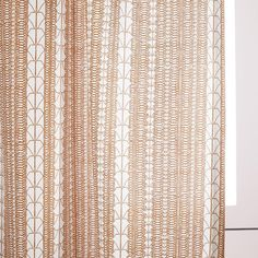 Echo Print Curtains (Set of 2) - Gold Dust