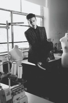Top model Ash Stymest at FM Agency in London posing for the cover story of Client Magazine shot by Ian Cole with splendid styling by Marie-Claude Lamb. Ian Cole, Ash Stymest, Classic Rock And Roll, Marlon Teixeira, Celebrity Dads, David Beckham, Funny Design, Male Models, Editorial Fashion