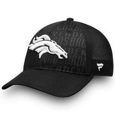 6bdc5a385c8 Denver Broncos NFL Pro Line by Fanatics Branded Trucker Adjustable Snapback  Hat - Black