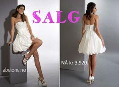 Kort brudekjole på salg www.abelone.no