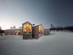La casa en estación de esquí cerca de Geilo, valle de Hallingdal (Noruega)