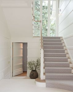 Paneled wall at Main Stair OR Back of House Stair | See this Instagram photo by @pursleydixonarchitecture • 608 likes
