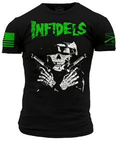 They call us Infidels. If being an American means being an Infidel then we shall embrace the name! The Grunt Style Infidels shirt is black and made of u Grunt Style, Custom T, Short Outfits, Shirt Designs, Fashion Outfits, Casual, Mens Tops