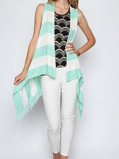 Ya Sleeveless Striped Vest  $42.00 www.shopbloved.com