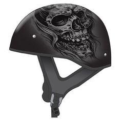 Automotive Visors Red Flame Motorcycle Half Helmet