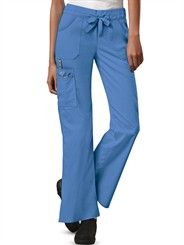 Cherokee Scrubs Premium Workwear Core STRETCH Junior Fit Flare PETITE Pant