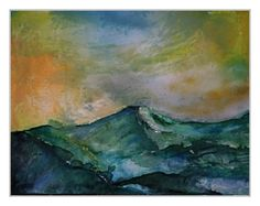 Hommage an E.N. (Emil Nolde) Aquarell 100x80 cm