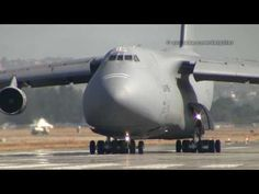 C-5 Galaxy takeoff.  I've seen them, I've flown in them. I never tire watching these amazing aircraft!