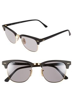 9cf8b6f6f65 Ray-Ban  Classic Clubmaster  51mm Polarized Sunglasses available at   Nordstrom