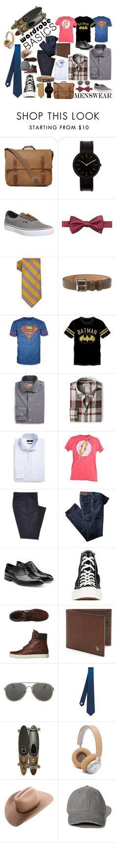 """Menswear"" by marina-monego ❤ liked on Polyvore featuring Ally Capellino, Uniform Wares, Vans, Ryan Seacrest Distinction, Brooks Brothers, A.P.C., Bioworld, Gitman Bros., MANGO and BOSS Hugo Boss"