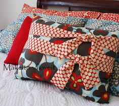 This looks easy enough, and I'm over spending hundreds on pillows that put in a corner at night and sometimes find their way back on the bed in the morning IF make it....