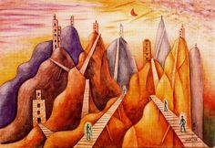 XUL SOLAR, MOUNTAINS OF NINE TOWERS, 1948