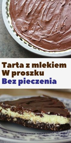Tart with powdered milk without baking Sweet Cooking Sweet Cooking, Polish Recipes, Powdered Milk, Apple Cake, Good Food, Food And Drink, Sweets, Brownies, Baking