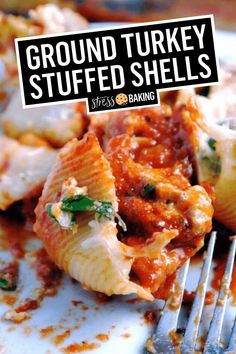 Healthy Stuffed Shells, Stuffed Shells With Meat, Chicken Stuffed Shells, Spinach Stuffed Shells, Stuffed Shells Recipe, Chicken Pasta, Pasta Dishes, Food Dishes, Food Food