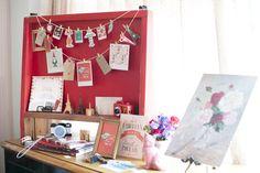 papelaria personalizada, eventos,  paperie, ninguem mais tem, chá de cozinha Amelie Poulain, cantinho da foto, bandeirola, decor, photo  Foto: Giselly Gonçalves