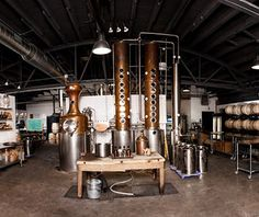 "Travel + Leisure magazine named Middle West Spirits in Columbus one of ""America's Coolest distilleries!"""