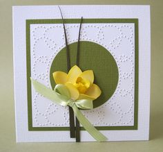 Daffodil Tag Card by Gem35 - Cards and Paper Crafts at Splitcoaststampers