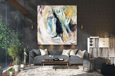 Large Abstract Painting,Modern abstract painting,painting home decor,painting on canvas,modern abstract,textured art decor FY0015