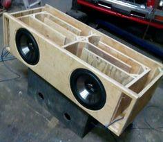 Pin by Ryan Fallowfield on boxes Custom Speaker Boxes, Speaker Box Design, Diy Speakers, Built In Speakers, Custom Car Audio, Custom Cars, Jl Audio, Audio Box, Audio Sound