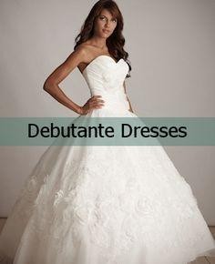 Debutante, Debutante dresses and Strapless wedding dresses on ...