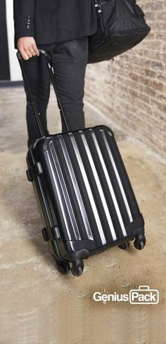 "Newest to the Genius Pack collection, ""Aerial"" is a maximum size carry on with minimalist design with durable 360-degree spinner wheels, a secluded laundry compartment, interior category compartments for a think-free packing experience, integrated packing checklist, and oh it's extremely light, just 6.2 lbs."