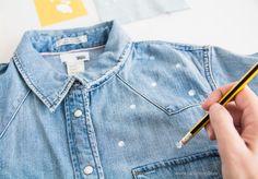 Customizar una camisa tejana con pintura textil y en menos de 10 min. Tutorial completo con fotos ...