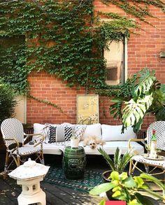 """Arranje tempo pra ser feliz. Transforme seu quintal sem graca num lugar lindo e cheio de plantas. Faça desse espaço seu oásis. Para para ler um pouco ouvir música ou simplesmente """"Pare"""". Inspiração por @designdecor. #decoramundo"""
