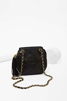 Vintage Chanel Black Tassel Bag