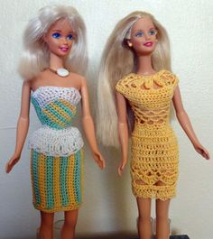 crochet dress for barbie ☆