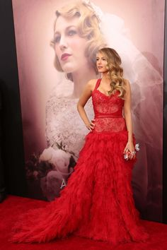 Blake Lively in Monique Lhuillier: - This year saw Lively take a moment to enjoy her family—she and Ryan Reynolds welcomed a baby girl, James—but we can still count on her to provide major red carpet moments. While promoting The Age of Adaline, she changed at least five times before hitting the premiere in Lhuillier's Latin-inspired tiered dress. With many a benefit and awards show coming up, here's hoping the mother-of-one continues to put her very fashionable