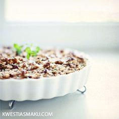 Tarta z kurkami, kaszą gryczaną i serem białym