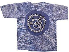 Odishabazaar Unisex Cotton Sacred Om Aum Batik T-shirt Tees XL Blue Odishabazaar http://www.amazon.com/dp/B01AO5W350/ref=cm_sw_r_pi_dp_.Wt7wb0XX0GER