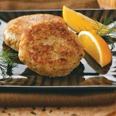 Healthy Eating - Dilly Salmon Patties - 1 patty equals 265 calories, 12 g fat (3 g saturated fat), 152 mg cholesterol, 761 mg sodium, 12 g carbohydrate, 1 g fiber, 27 g protein.  4 servings