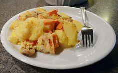 Kartoffelauflauf mit Paprika und Champignons
