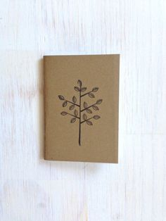 Small Notebook: Tree, Cute, Natural, Black, Favor, Wedding, Kids, Boy, Girl, Brown, Jotter, Mini Journal, Small Notebook, Stamped, Unique