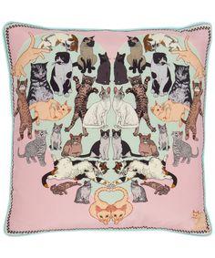 Precious Pussies Silk Cushion, Silken Favours