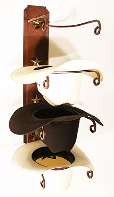 American Made Cowboy Hat Holder STAR & 21 DIY Hat Rack Ideas To Make Your Hats More Tidy and Good Looking ...