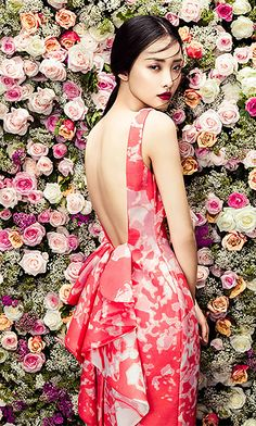 PHUONG MY - Open Back Wool Silk Couture Dress