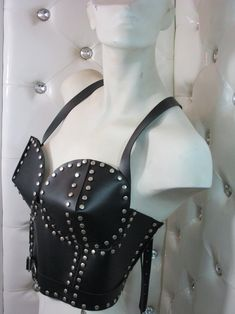 Amazing OVERBUST leather CORSETleather corset with   Etsy Leather Corset, Leather Harness, Custom Corsets, High Collar, Little Gifts, Italian Leather, Handmade Items, Amazing, Etsy