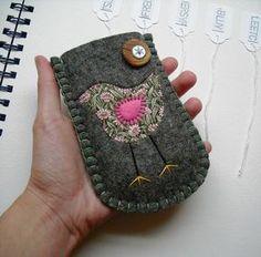 felt gadget sleeve on Flicker Embroidery Group
