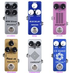 Moskyaudio Mini Guitar Effect Pedal  Overdrive, Compressor,distortion, Chorus, delay ,Reverb Pledals. Yesterday's price: US $49.50 (40.21 EUR). Today's price: US $22.28 (18.15 EUR). Discount: 55%.